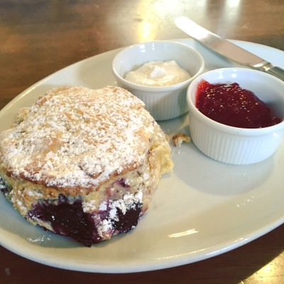 Vegan fruit scones in York